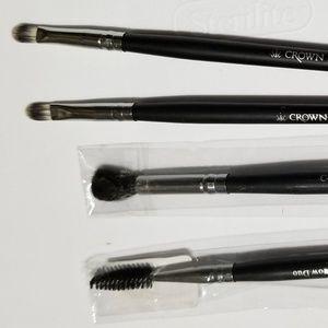 Pointed Crease C412 DLX Brow Duo C413 2x Lip Brush